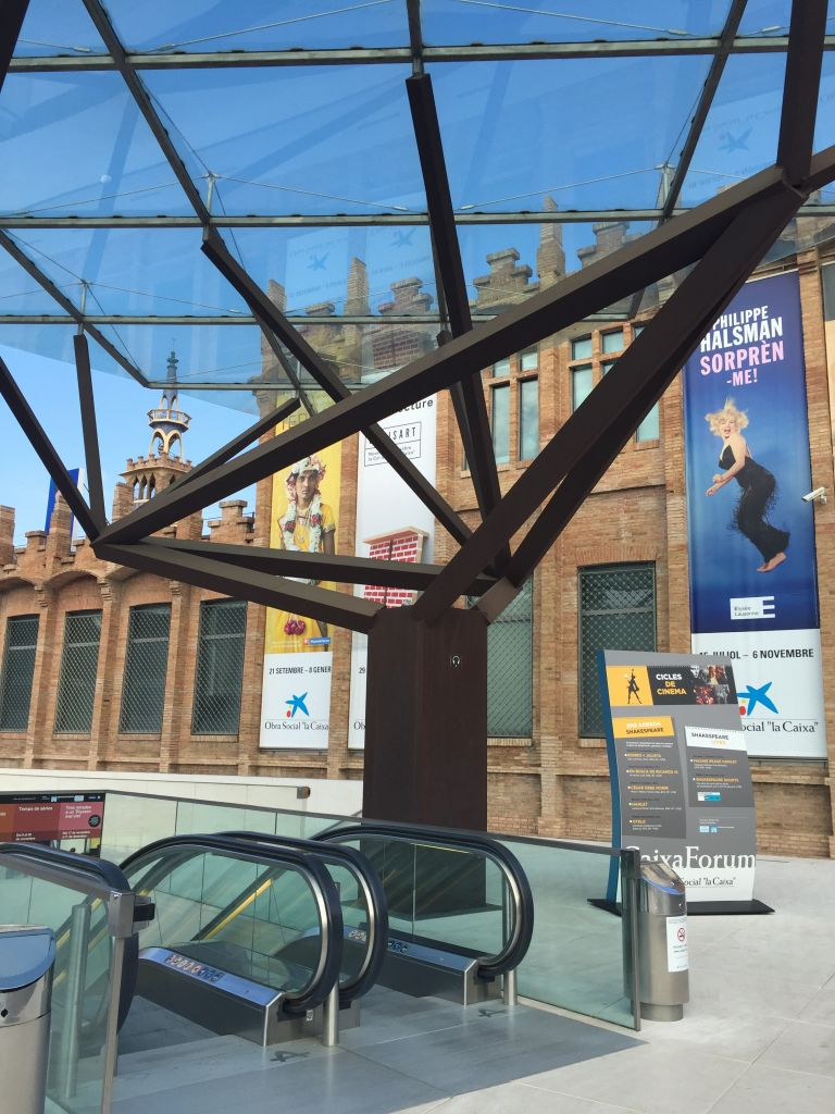 Entrée CaixaForum- Expo Philippe Halsman