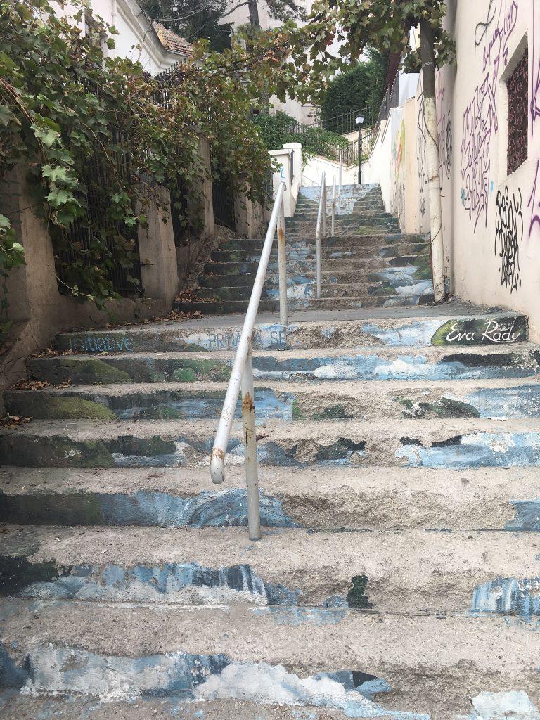 Graffiti sur escalier