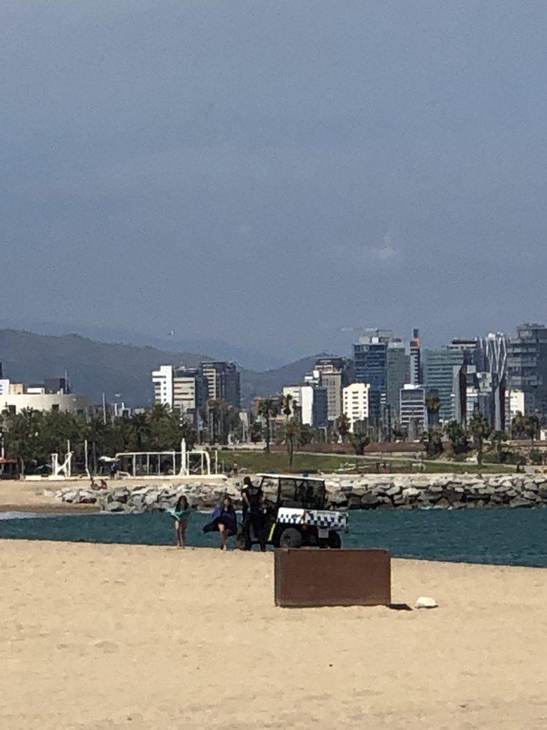 Plage Barcelone COVID19
